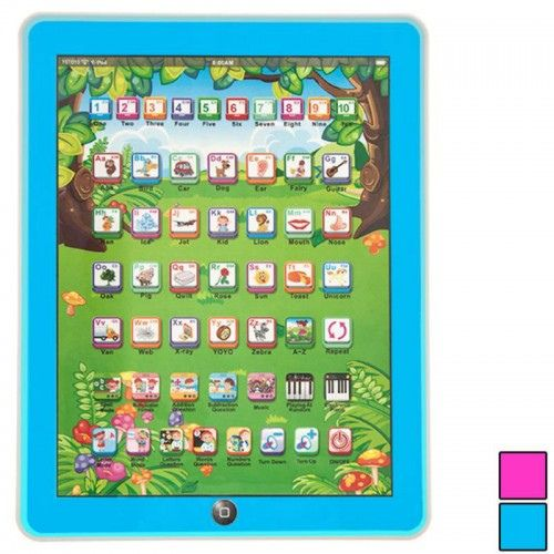 WolVol Childrens Learning Tablet, Touch-Screen Lights and Sound and Great English Learning Starter.  Know more : http://www.wolvol.com/wolvol-childrens-learning-tablet-blue-touch-screen-lights-and-sound-50-keys-9in7in-great-english-learning-starter  #learningtablet #wolvol