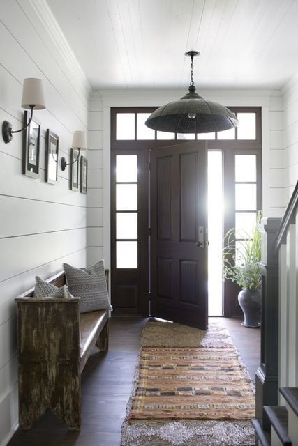 1000 ideas about modern entryway on pinterest console for Modern farmhouse mudroom