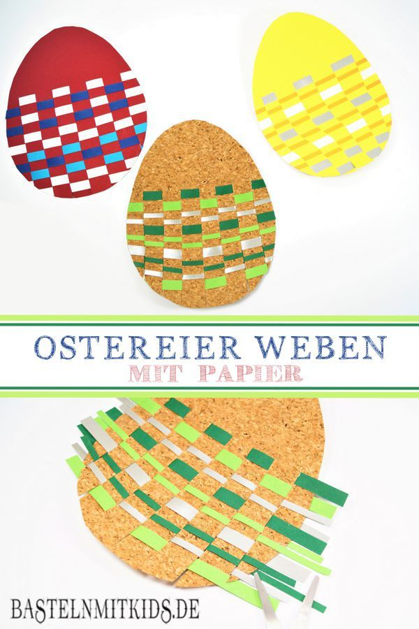 Easter eggs are made from paper