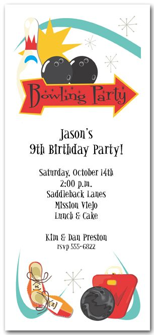 19 best Bowling Party images on Pinterest Bowling party - bowling invitation