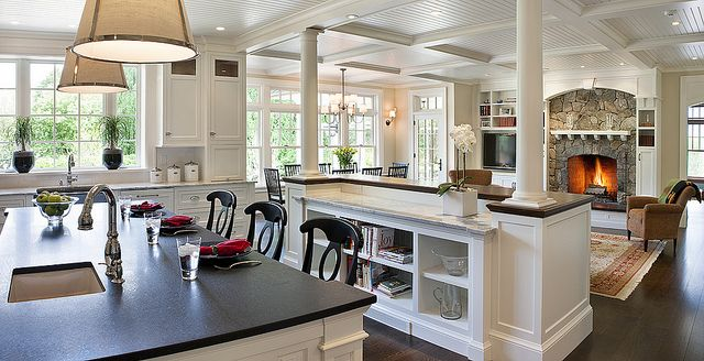 Open concept kitchen living room design ideas open for Open house plans with lots of windows