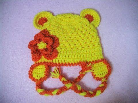 Πλεκτο Σκουφακι με Αυτακια/ Crochet Beanie with Ears Tutorial - YouTube