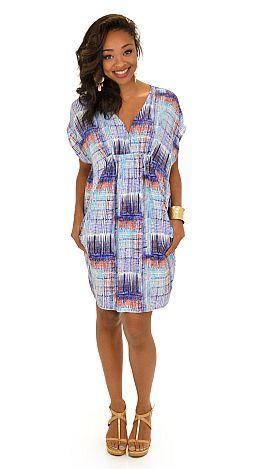 Challis Sack Dress :: NEW ARRIVALS :: The Blue Door Boutique