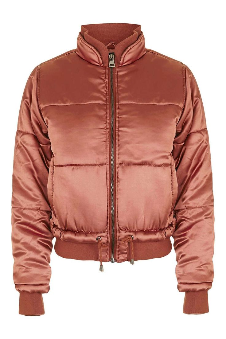 Satin Puffer Jacket - Jackets & Coats - Clothing