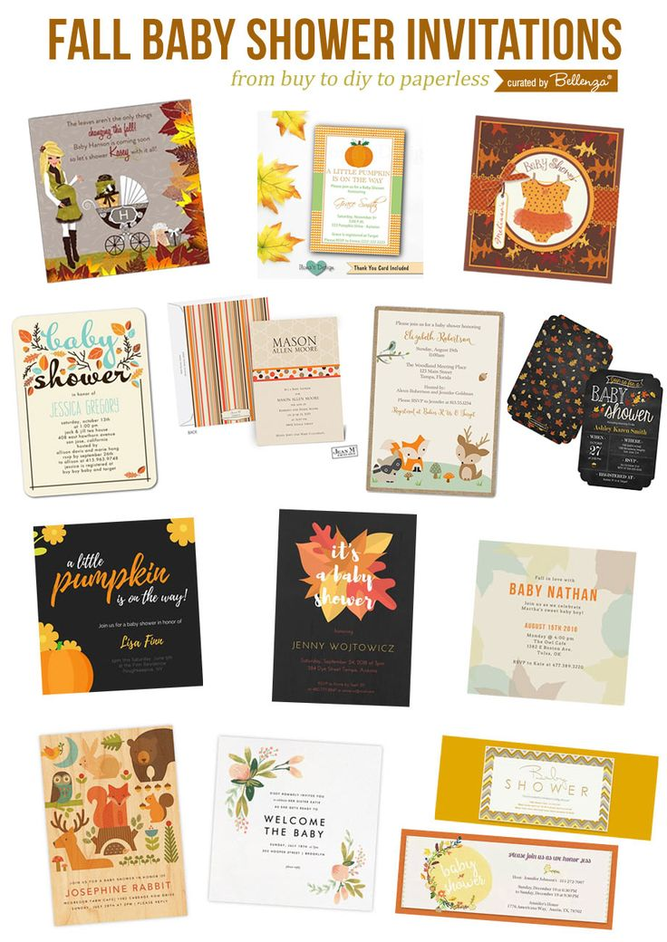 unique fall inspired baby shower invitations to buy or diy