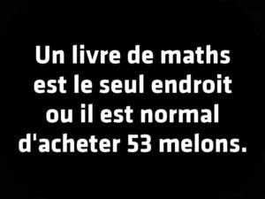 A book Math is the only place where it is normal to buy 53 melons.