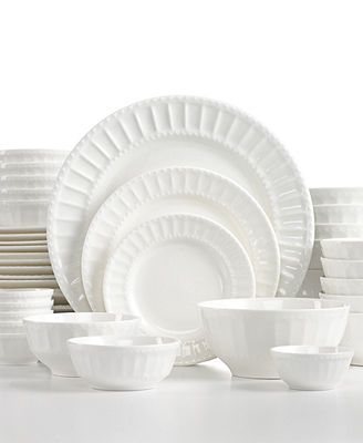White Elements Dinnerware Paloma Embossed 42-Piece Set  sc 1 st  Pinterest & 26 best Astiasto images on Pinterest | Dish sets Porcelain and Dishes