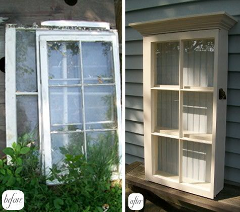 Old Window projectOld Windows Projects, Display Cabinets, Sewing Tables, China Cabinets, Boxes Cabinets, Windows Boxes, Shadows Boxes, Bathroom Cabinets, Window Boxes