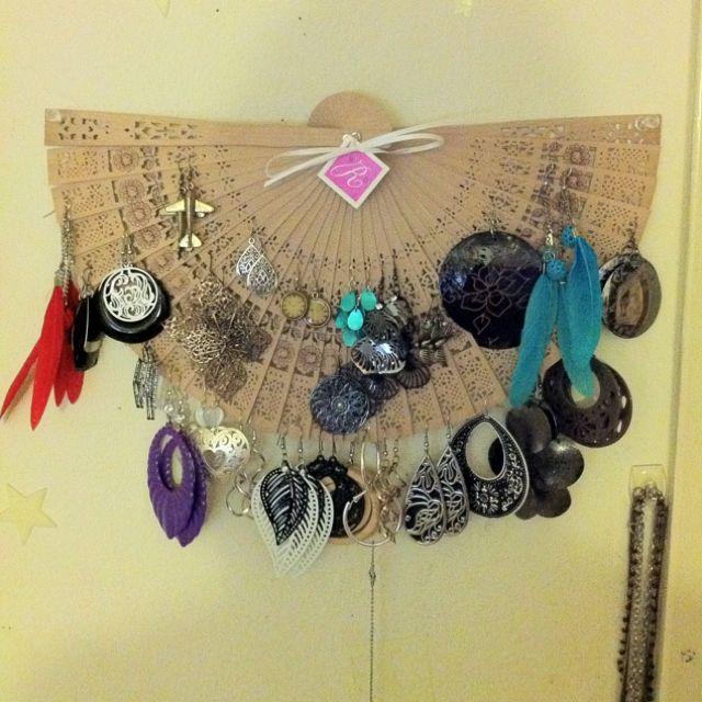 Homemade earring holder. :)