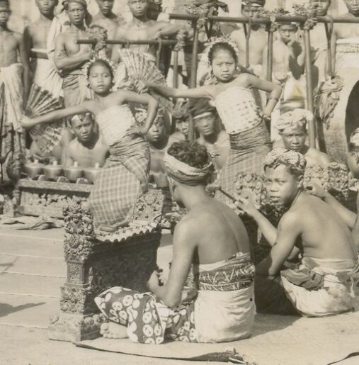 Bali rpc Legong Dancers Gamelan Orchestra Indonesia 20s
