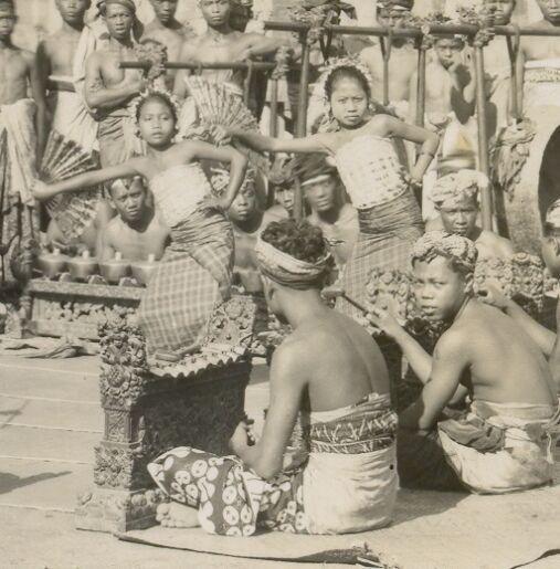 Bali rpc Legong Dancers Gamelan Orchestra Indonesia 20s