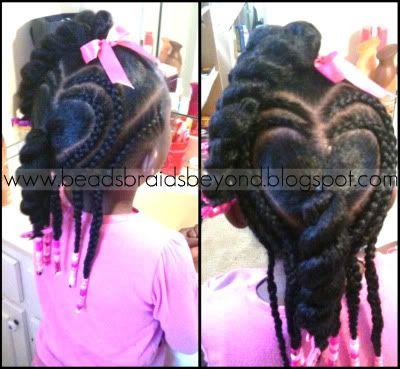Twists with heart braids