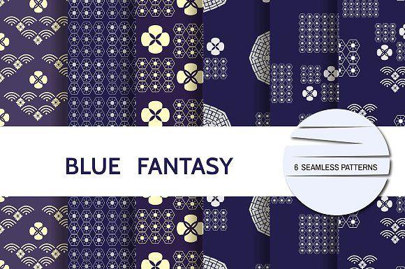 Blue fantasy by TATIANA_GERICH on @creativemarket