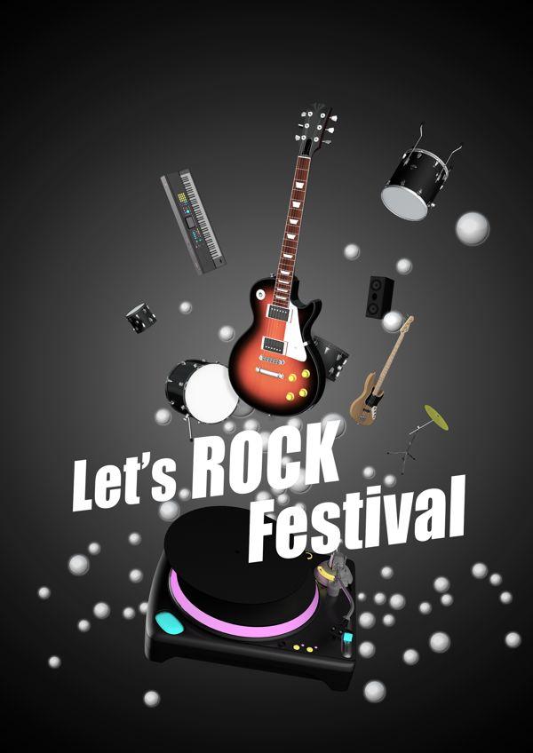 Let's ROCK Festival by Won Hong LEE, via Behance