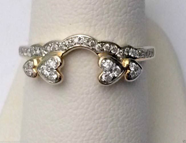 Yellow Gold Diamonds Solitaire Wrap Ring Guard Enhancer (0.25ct. tw)- RG331368781145