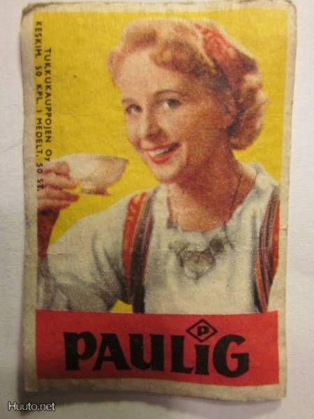 Tuko tulitikku Paulig. Paula-tyttö - 1 € - Etiketit - Muut ...