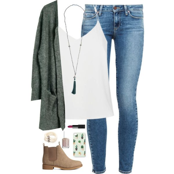 I love it when you hug someone taller than you and they put their head on yours. by kaley-ii on Polyvore featuring Julie Fagerholt Heartmade, Paige Denim, Ally Fashion, H&M, Carolee, NARS Cosmetics and Essie
