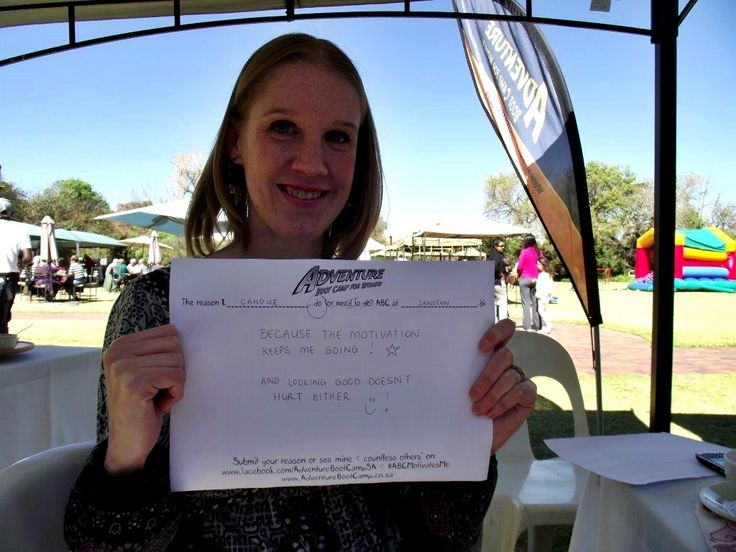 Candice's entry - Sandton 4:30pm #competition #motivate www.facebook.com/AdventureBootCampSA