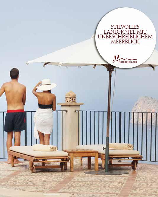 Sa Pedrissa - Mallorca: Country hotel with an indiscribable seaview. Stilvolles Landhotel mit unbeschreiblichem Meerblick.