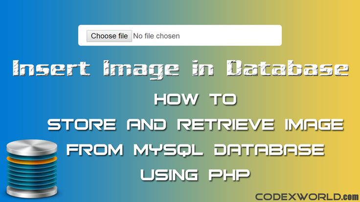 Insert image in database using PHP - Learn how to store and retrieve image from MySQL database using PHP. Example script to upload image to database and display using PHP & MySQL.
