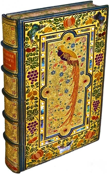 For the love of Books...Paradise Lost, by John Milton, 1667, 20th century Treasure Binding by Sangorski & Sutcliffe