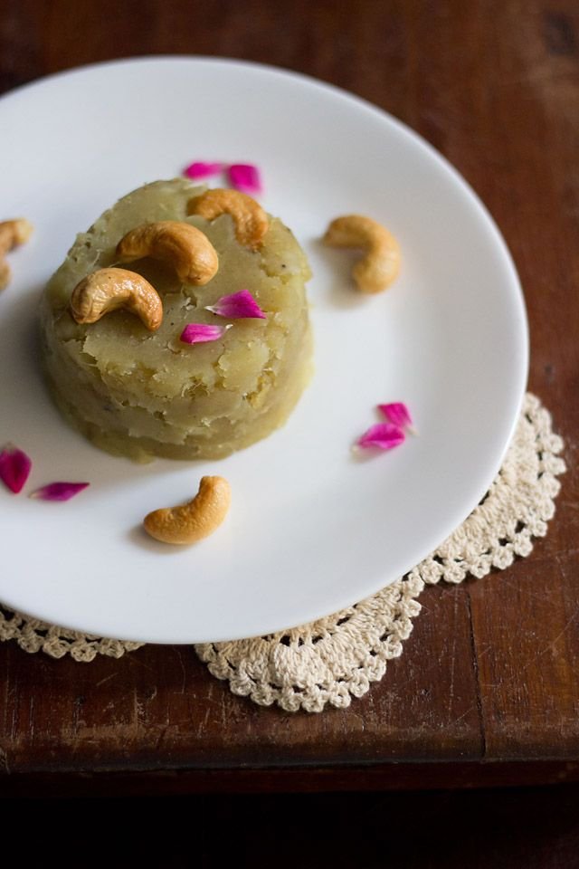 #sweet potato #halwa - delicious halwa made with boiled mashed sweet potatoes and scented with cardamom and saffron.