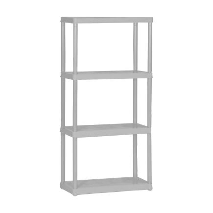 maxit 4 tier ventilated plastic shelving 12in d x 24in w x. Black Bedroom Furniture Sets. Home Design Ideas