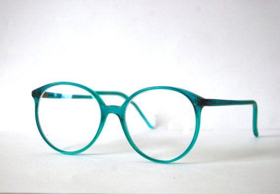 Retro Pro Design Turquoise Eyeglasses