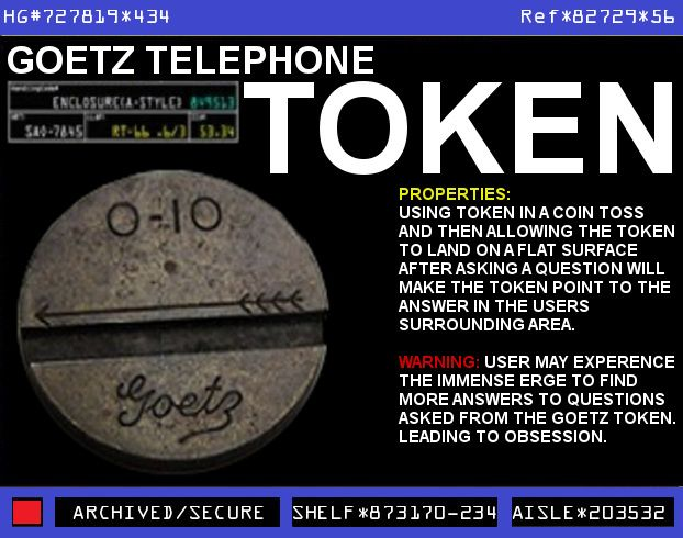 warehouse 13 artifacts by episode | Start a Discussion Discussions about Goetz Open Feather 0-10 Telephone ...