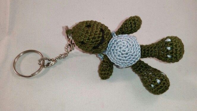 Crochet Tortoise keyring