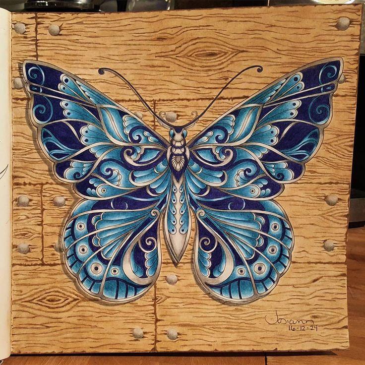 #johannabasford #magicaljungle #butterfly #fabercastell # ...