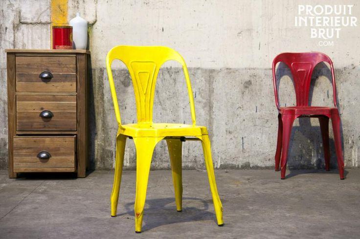 Vintage-Stuhl Multipl's  im leuchtendem Antiken Gelb