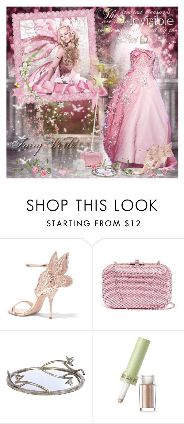 """""""A Fairy's World"""" by prettyasapicture ❤ liked on Polyvore featuring Sophia Webster, Judith Leiber and Pixi"""