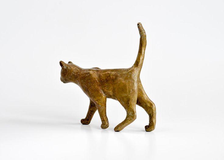 Katze aus Bronze von Kunst aus Bronze auf DaWanda.com