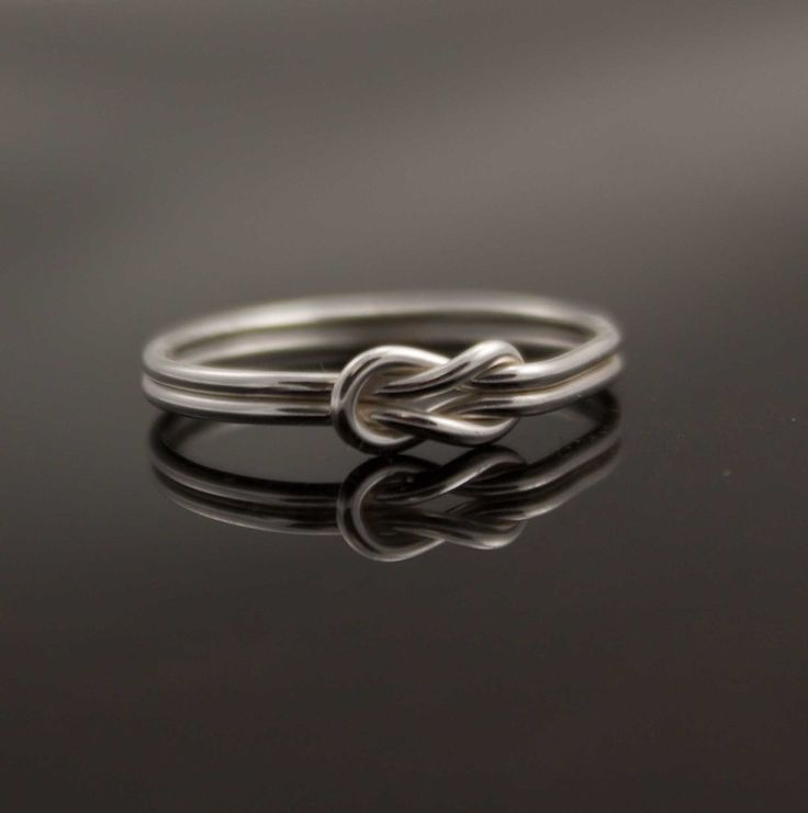 Infinity ring. Sterling Silver knot ring  Nautical ring Promise ring Purity ring sailor knot. $36.00, via Etsy.