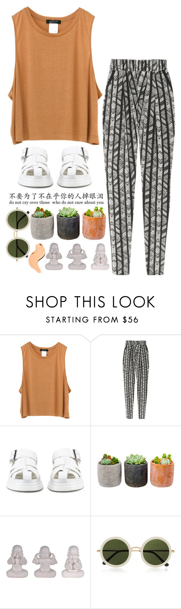 """""""Untitled #59"""" by mercecestyle ❤ liked on Polyvore featuring DAY Birger et Mikkelsen, Dr. Martens, Shop Succulents and The Row"""