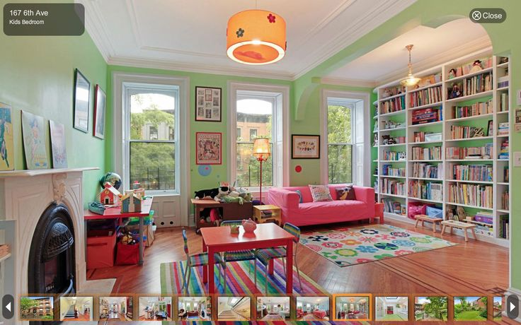 Townhouse From The Squid and the Whale Listed for Sale - On the Market - Curbed National6Th Avenue, Green Playrooms, Parks Sloped, 167 6Th, Kids Room, Avenue Brooklyn, Taylors Playrooms, Brooklyn Renovation, Victorian Interiors