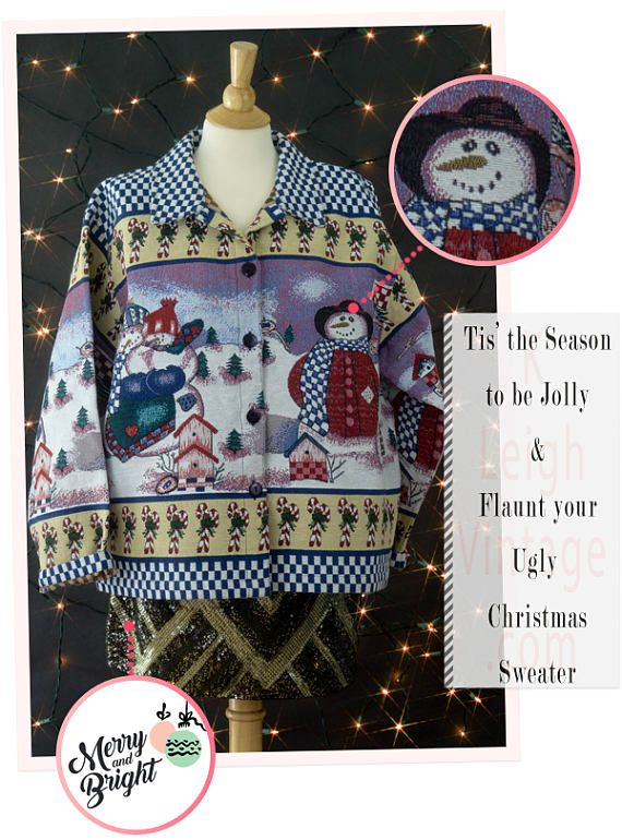 Ugly Christmas Sweater Ugly Christmas Cardigan Jacket Cross