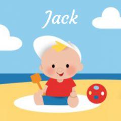 Zomer geboortekaartje jongetje op strand