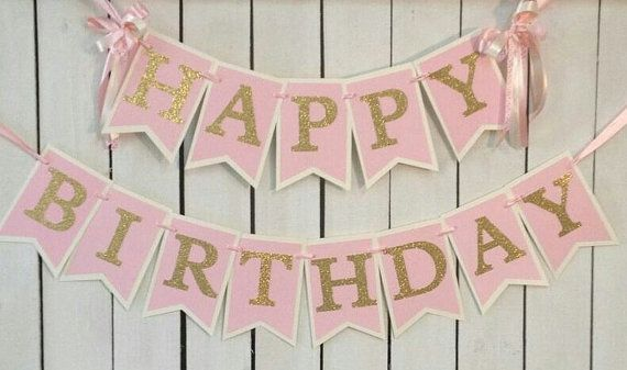 Hey, I found this really awesome Etsy listing at https://www.etsy.com/listing/221754379/pink-and-gold-birthday-banner-pink-and