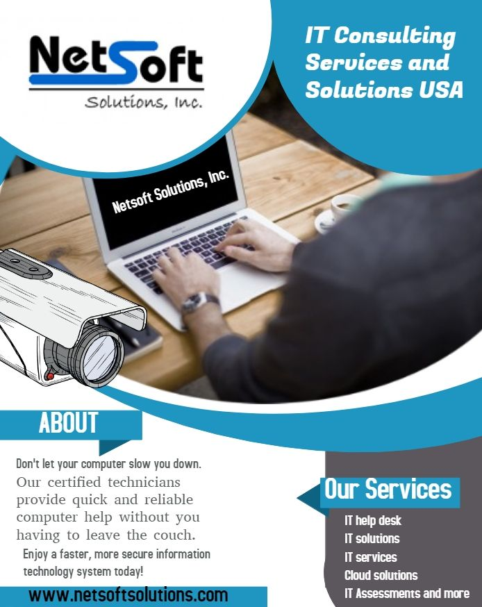 Netsoft Gives You The Best It Services At Affordable Prices In New York Netsoft Solutions Is Top Class It C Computer Repair Business Computer Repair Solutions