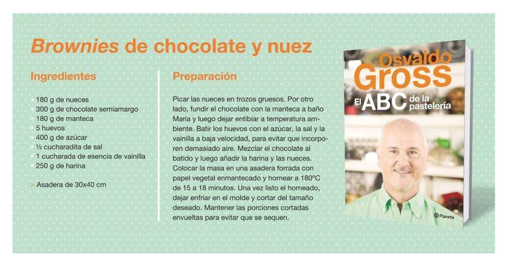 Brownies de chocolate y nuez, por Osvaldo Gross