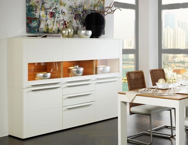 Gwinner Bellano 5 door cabinet in white matt silk lacquer #modernfurniture #interiordesign #home #modernhome #furniture #interiors