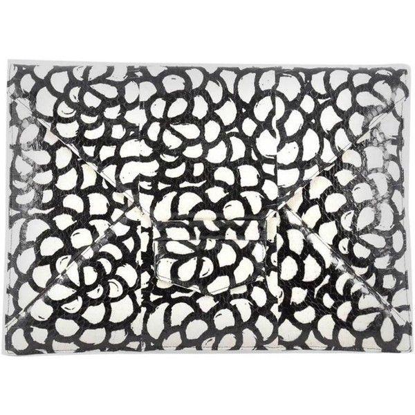 Oscar de la Renta Grafton Flat Envelope Clutch Snakeskin Large ($535) ❤ liked on Polyvore featuring bags, handbags, clutches, oscar de la renta handbags, envelope clutch bag, snakeskin clutches, snakeskin purse and flat purse