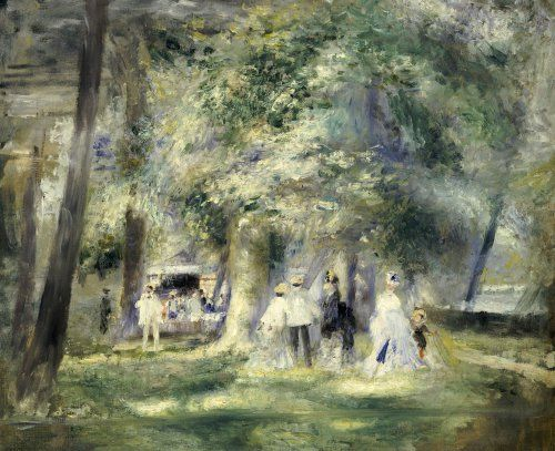 In The Park At Saint-Cloud, 1866 by Pierre Auguste Renoir - art print from King & McGaw