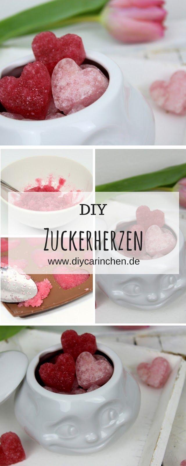 Diy Zuckerherzen In Rosa Selber Machen Süßes Geschenk Zum