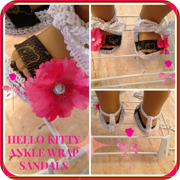 American Girl Doll 18' Hello Kitty Ankle Wrap Sandals