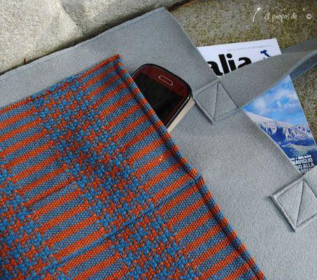 Handmade shopper felt + weaving by Atelier Faggi Italy - #weaving #weaving-techniques #handweaving #felt #bag #atelierfaggi