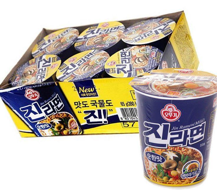 Korea Ramen Jin Ramyun Cup Ottogi Instant Noodle Mild Tasty Soup 6ea #Ottogi