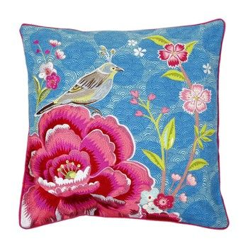 Delightful Pip Studio   Birds In Paradise Cushion   Blue   50x50cm Design